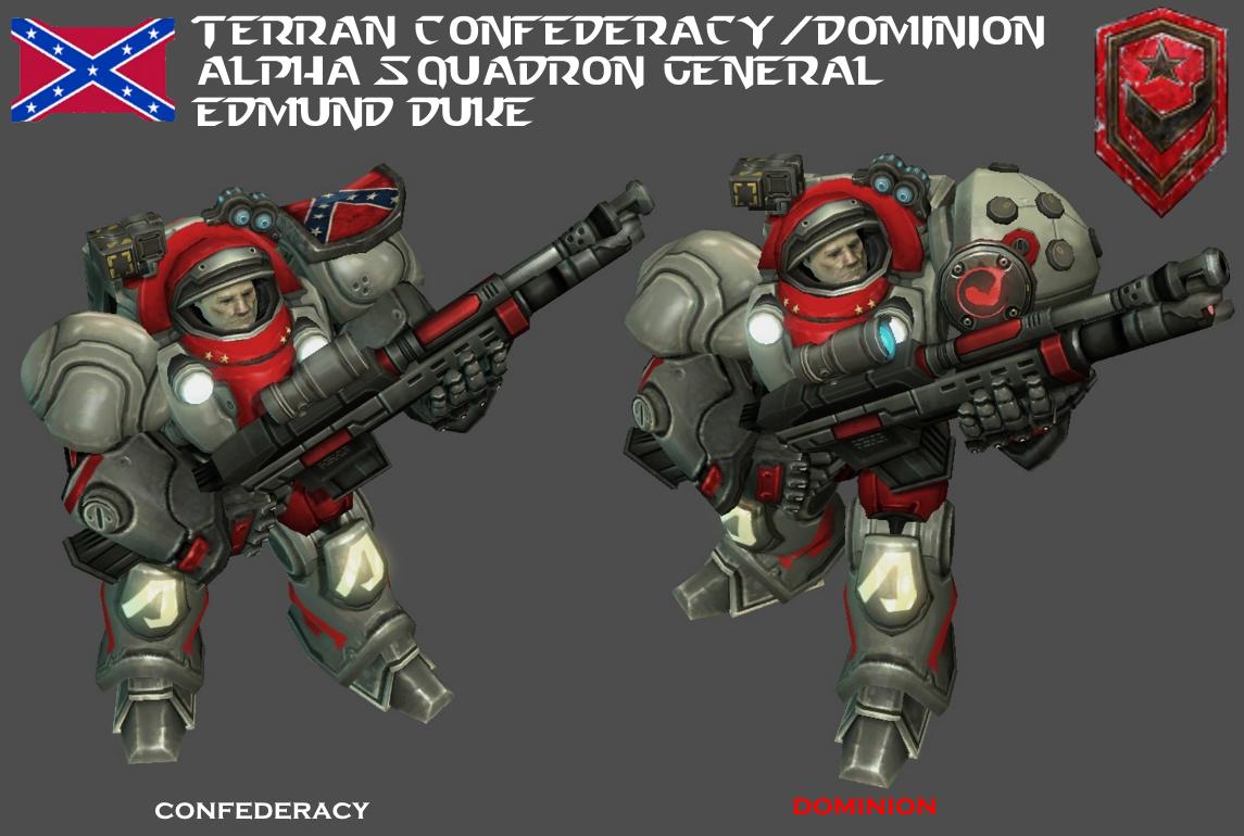 StarCraft 1 - Alpha Squadron General Edmund Duke by HammerTheTank