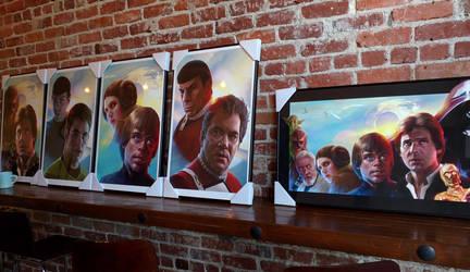 Prep for art show Star Wars vs Star Trek in LA. by WeaponMassCreation