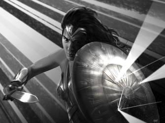 Wonder Woman sketch by WeaponMassCreation