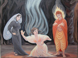 The Visitation - Hecate, the Sibyl and Apollo by MariaAragon64