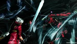 Deadpool vs Dante by AbnerAgustin