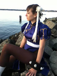 Chun on the Cliff by the Sea by demyx15