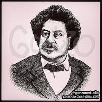 Portrait of Alexandre Dumas by GonZoneStudio