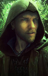 Baldurs Gate Portrait, Druid Avenger by StuArtStudios