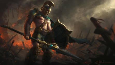 BattleWorn Achilles by StuArtStudios