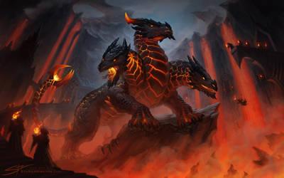 The Cult  of the Elder Dragon by StuArtStudios