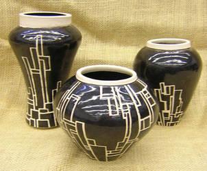 masked vase set by lizzybeth
