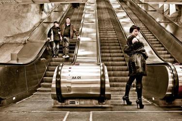 Subway bums by KodoqKatie