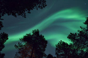Midwinter Lights II by villekroger