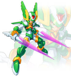 Sage Harpuia (UMX style) by ultimatemaverickx