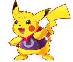 Commission: Pikachu (Rayman Costume) by ultimatemaverickx