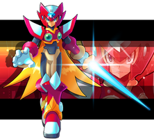 Commission: Zero (X series)  and Zero.EXE Fusion by ultimatemaverickx
