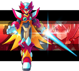 Commission: Zero (X series)  and Zero.EXE Fusion by ultimatemaverickx
