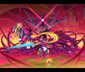 Commission: Zero vs Zalgo - It's too late by ultimatemaverickx