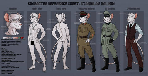 Character Reference Sheet: Stanislav Kalinin by Amaryllex