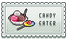 candy eater stamp by omenaapple