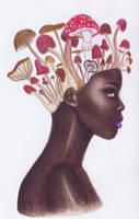 Mushroom Head by ReaperBunny