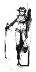 Vampire Hunter sketch by czarnystefan