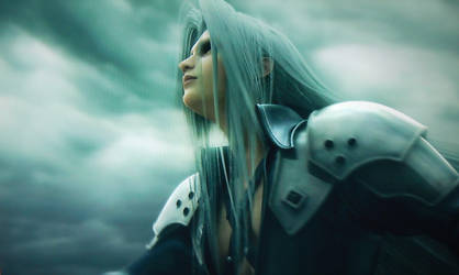 Silver hair and grey clouds by DaikiniSan