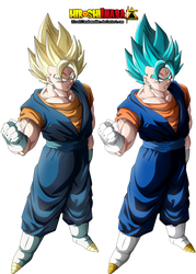 Vegetto SSJ and SSGSS by HiroshiIanabaModder