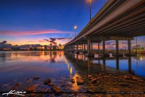 Blue-Heron-Bridge-Sunrise-Along-Lake-Worth-Lagoon- by CaptainKimo