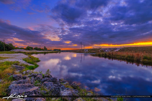 Conservation-Levee-Greenway-Sunset-at-Dam-Tamarac- by CaptainKimo