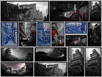 Hidden City Thumbnails by JackEavesArt