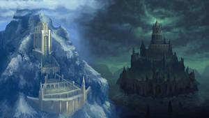 Castle of Oceania / The Keep of Old by JackEavesArt