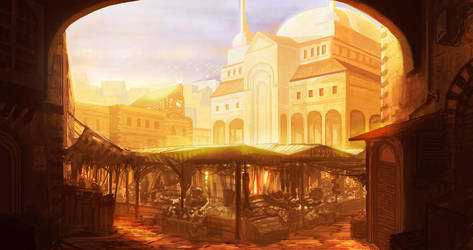 A Journey of Intrigue: Market Square Concept by JackEavesArt