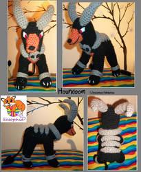 Houndoom crochet plushie by Sasophie