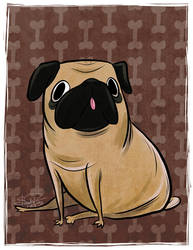 Day 13: Pug by happydoodle