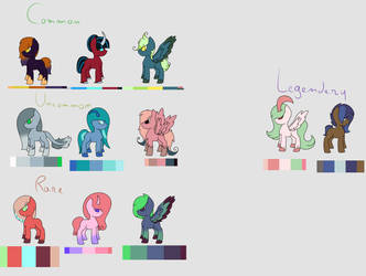 Forest Wood Ponies [+ Adopts] by PurpleMyst22