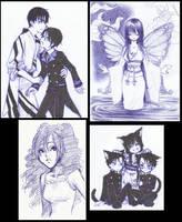 xxxholic doodles by Rokuri