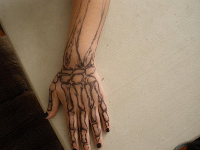 Sharpie Tattoo Hand Bones By Awkward Artists On Deviantart
