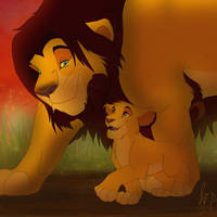 Ahadi and Mufasa by BrittHyatt