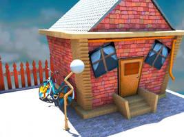 Cartoon House by Al-Wazery