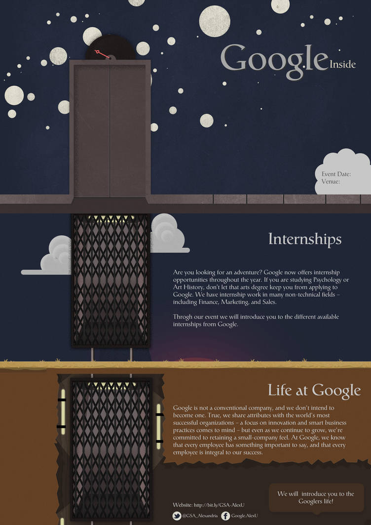 Poster for Life at Google Session by Al-Wazery