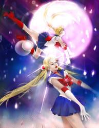 Sailor Moon-Falling Stars. by UnseelieAllure