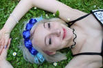 Blue Rose headdress by FairyWorkshop