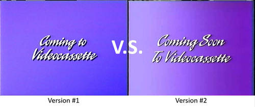 Coming To Videocassette Logo 1995 Comparison by richardchibbard