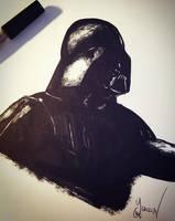 [traditional art] Darth Vader by Yuiccia