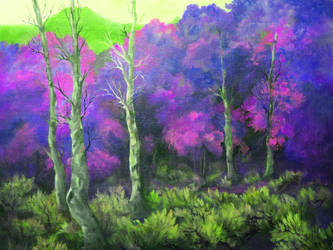 purple trees by grimmsguild