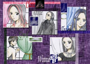 Five Sorceresses by Brillindeiel