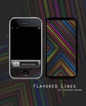 Flavored Lines Iphone Skin by iruhdam