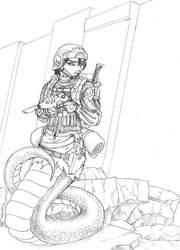 Naga Soldier by kaffeezombie