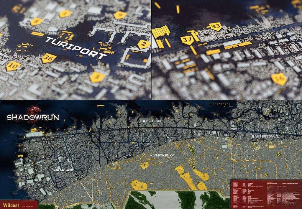 Shadowrun Karte Hamburg Wildost by fexes