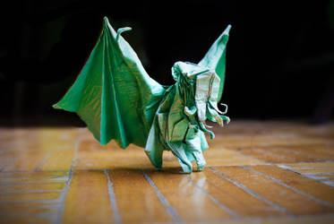 Origami Cthulhu by Blackblade-shinobi
