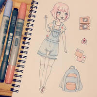 Sketchbook - Kawaii Gamer Girl by Ninelyn