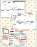 Printable Weekly Planner + Decos by Ninelyn