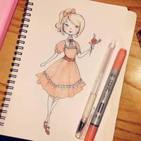 Sketchbook - Pink Loli by Ninelyn